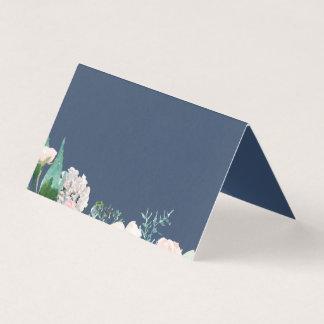 Cartes bleues romantiques d'étiquette de