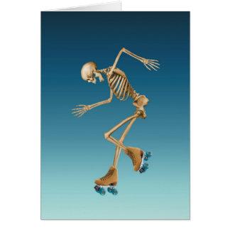 Cartes Bleus squelettiques de patinage de rouleau
