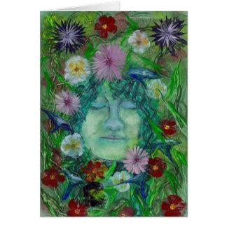 Cartes Blodeuwedd - épouse de fleur