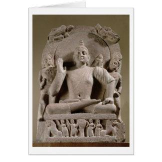 Cartes Bodhisattva posé, Mathura (grès rouge)