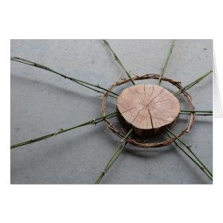 Cartes Bois et bambou droits de la forme 1 de cercle