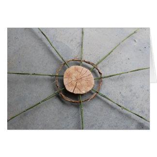 Cartes Bois et bambou larges de la forme 1 de cercle