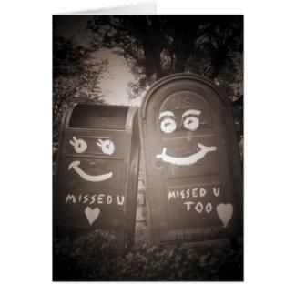 Cartes boîtes aux lettres d'amour : je vous ai manqués