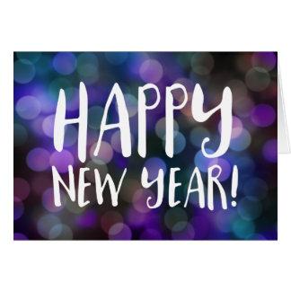 Cartes bokeh de bonne année