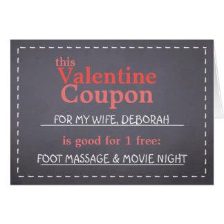Cartes Bon de Valentine