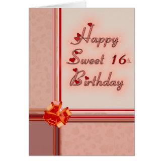 Cartes Bonbon heureux 16ème. Anniversaire