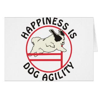 Cartes Bonheur d'agilité de chien