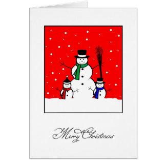 Cartes Bonhomme de neige