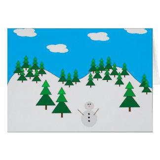 Cartes Bonhomme de neige dans le domaine