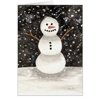 Cartes Bonhomme de neige d'aquarelle