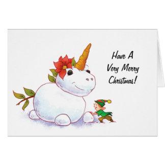 Cartes Bonhomme de neige de licorne