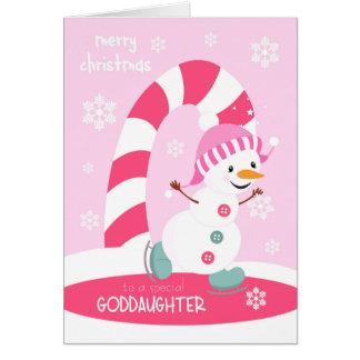 Cartes Bonhomme de neige de patinage de glace de Noël de