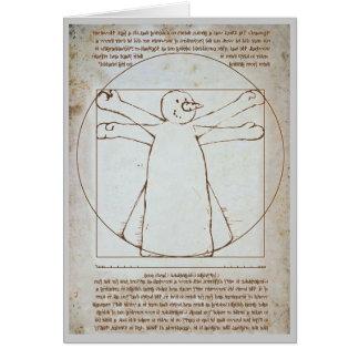 Cartes Bonhomme de neige de Vitruvian