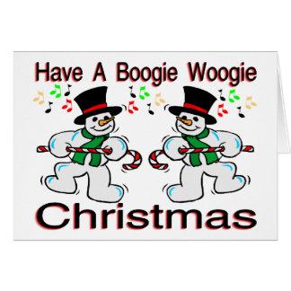 Cartes Bonhommes de neige de Noël de Woogie de boogie