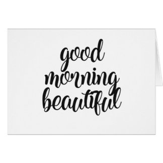 Cartes Bonjour beau