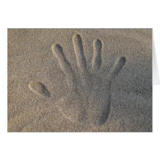 Cartes Bonjour dans le sable