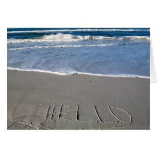 Cartes Bonjour de la plage