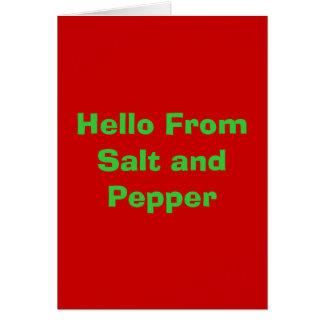 Cartes Bonjour du sel et du poivre