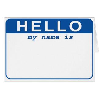 Cartes Bonjour - mon nom est