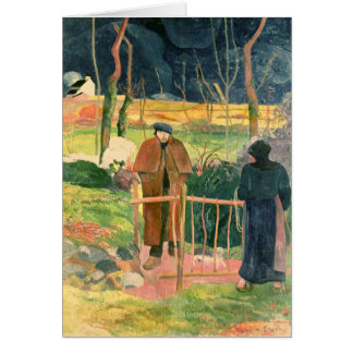 Cartes Bonjour, Monsieur Gauguin, 1889