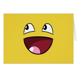 Cartes bonjour visage heureux