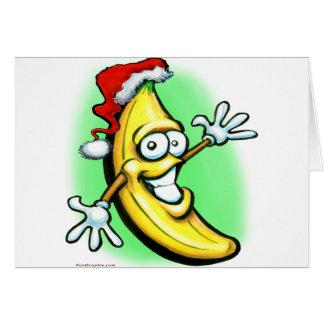 Cartes Bonne année de banane de Joyeux Noël