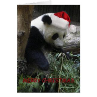 Cartes Bonne année de panda de Joyeux Noël !