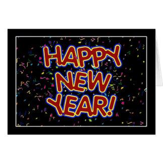 Cartes Bonne année - texte rouge d'amusement avec des