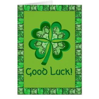 Cartes Bonne chance d'art populaire celtique de shamrock