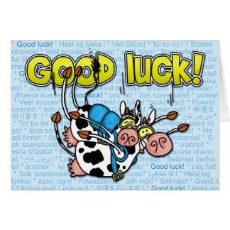Cartes bonne chance - tandem skydive de vaches
