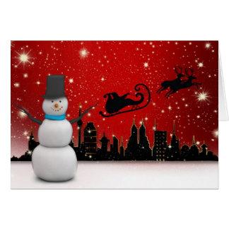 Cartes Bonnes fêtes bonhomme de neige