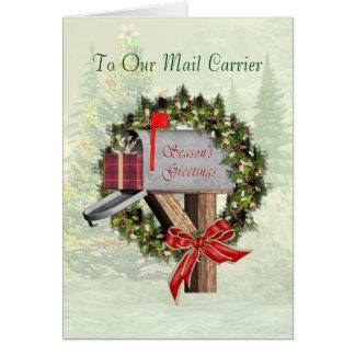 Cartes Bonnes Fêtes de boîte aux lettres au transporteur