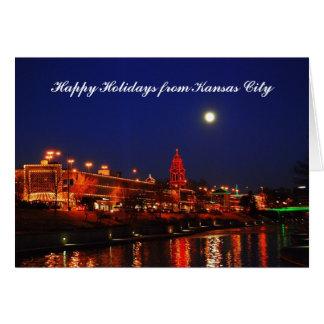Cartes Bonnes fêtes de la pleine lune de Kansas City