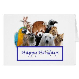 Cartes Bonnes fêtes de notre zoo !
