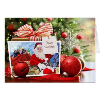 Cartes Bonnes fêtes de Père Noël et de ses furets