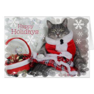Cartes Bonnes fêtes ! ronronnement… de joli chat