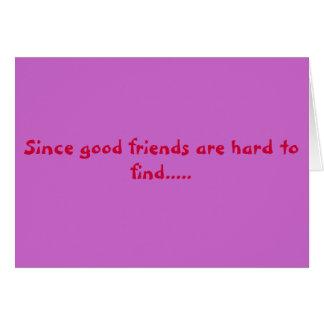 Cartes bons amis
