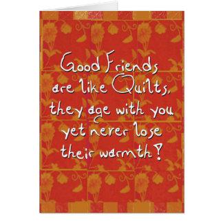 Cartes bons amis saluant