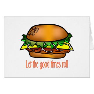 Cartes Bons temps d'hamburger