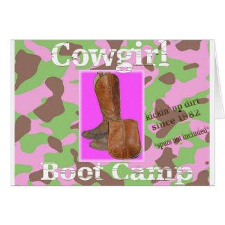 Cartes Bootcamp de cow-girl