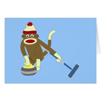 Cartes Bordage olympique de singe de chaussette