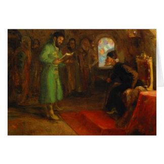 Cartes Boris Godunov avec Ivan le terrible