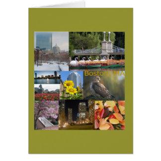 Cartes Boston, collage de photo de mA par Celeste Sheffey