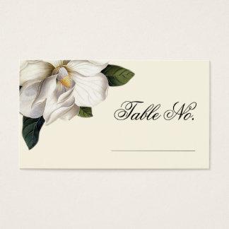 Cartes botaniques d'escorte de mariage de magnolia