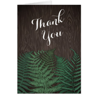 Cartes botaniques rustiques de Merci de mariage de