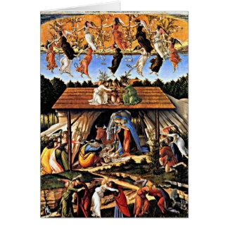 Cartes Botticelli - la nativité mystique