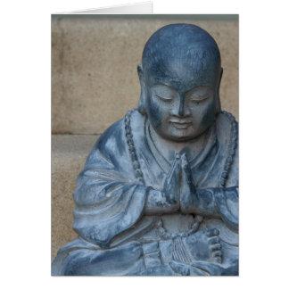 Cartes Bouddha dans la prière