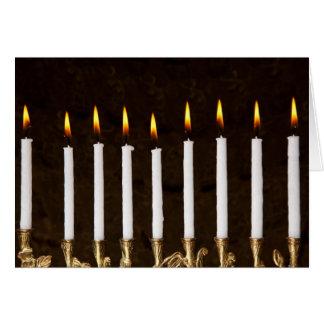 Cartes Bougies brûlantes de Hanoukka Chanukah Hanukah