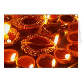 Cartes bougies de diya de diwali