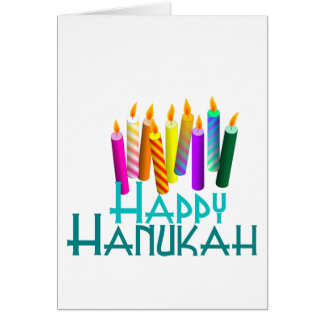 Cartes Bougies de Hanukah d'arc-en-ciel